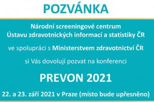 Konference PREVON 2021 - 22. - 23. 9. 2021, Praha