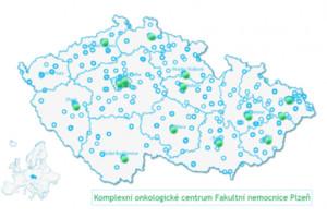 Mapa zdravotnických zařízení podílejících se na péči o onkologického pacienta
